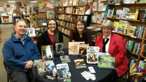 Donna Love, right, at Fact and Fiction Book Signing in Downtown Missoula