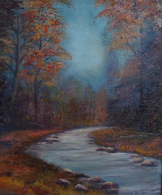 "Autumn Glow 10x12"" Oil on Board at Dublin Art Society  Exhibition"