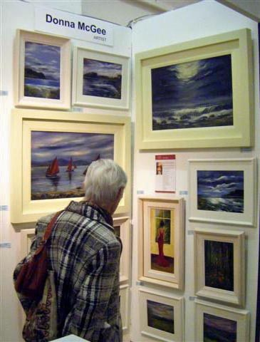 Art Fair in Dublin 2009, Donna McGee paintings