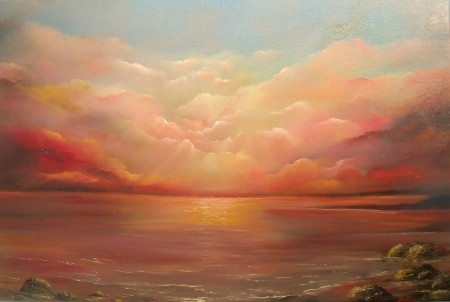 Daybreak, Dawn, Sky at Dawn, Silence of the Sea, Silent Shores, heavens shine, seashores