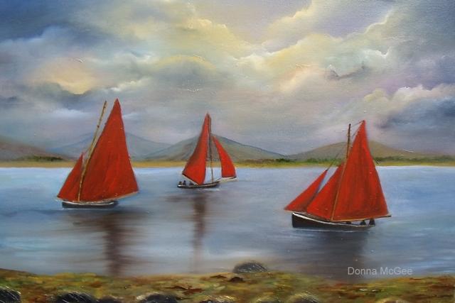 Galway Hookers, west coast of ireland, boating west coast