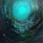 """Irish Art -  Spiral Galaxy - Titanic - Mixed Media 16x20"""""""