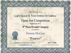 Poppies - LST 4th Place Overall Category Painting Competition - Donna McGee
