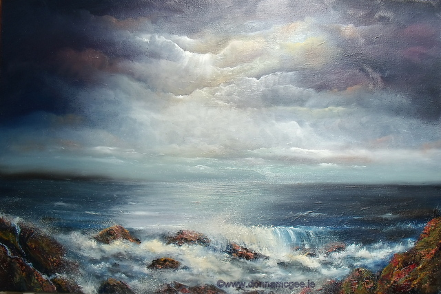 the secret of the sea, oil painting by donna mcgee
