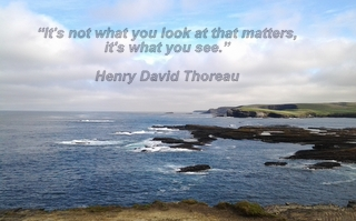 "Inspirational art quote from Henry David Thoreau - ""It's not what you look at what matters, it's what you see"""