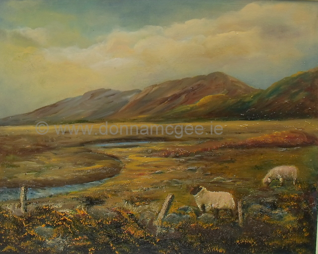 In the heart of Connemara oil painting