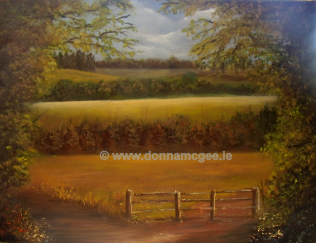 "Hidden Gems in Clonegal 16 x 12"" Oil on block canvas Plein Air"