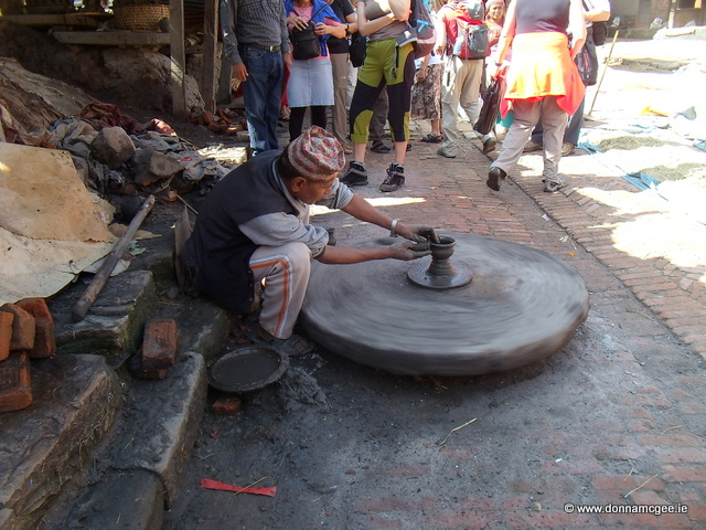 Bhaktapur - pottery making