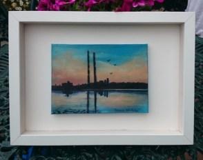 Pigeon House, Poolbeg, Dublin Oil painting