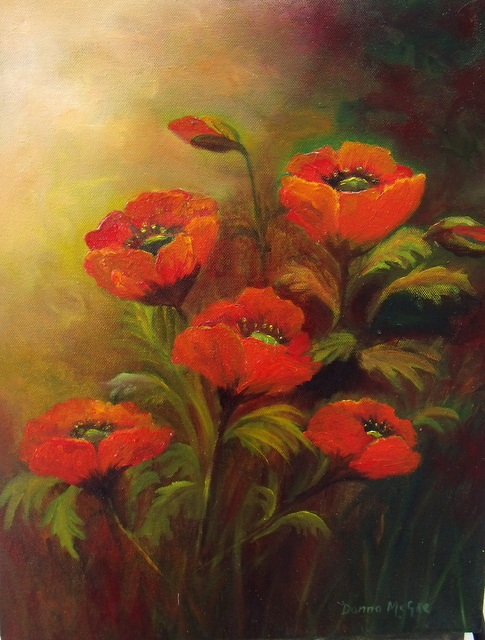 Orange Red Poppies