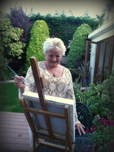 Donna McGee Fine Art - Adding the Finishing Touch!