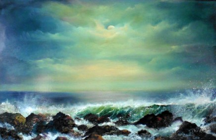 Atlantic Force 20x30 inches Oil on Canvas