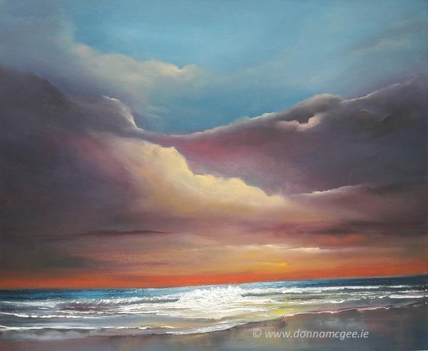 """Suaimhneas 24 x 20"""" - Oil on Block Canvas Donna McGee Art"""