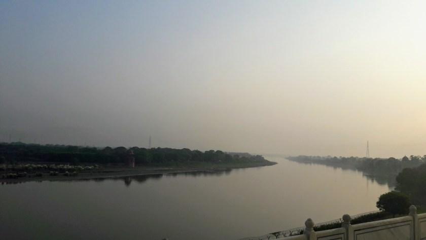 Taj Mahal and the Yamuna River