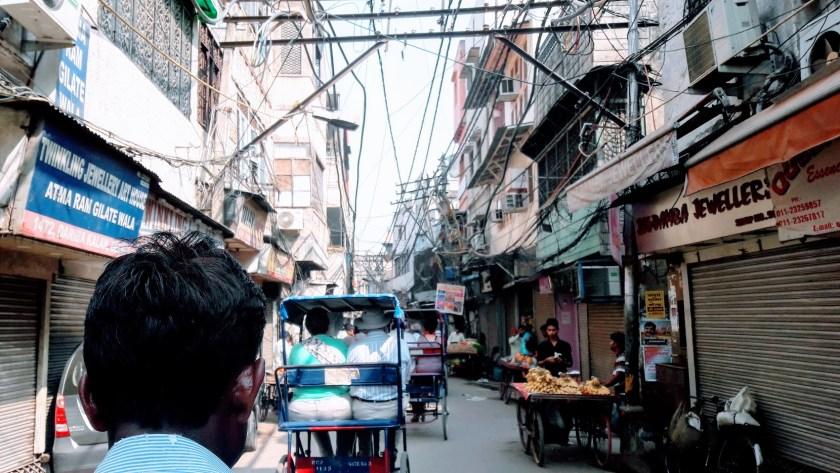The streets of Delhi on a rickshaw ride