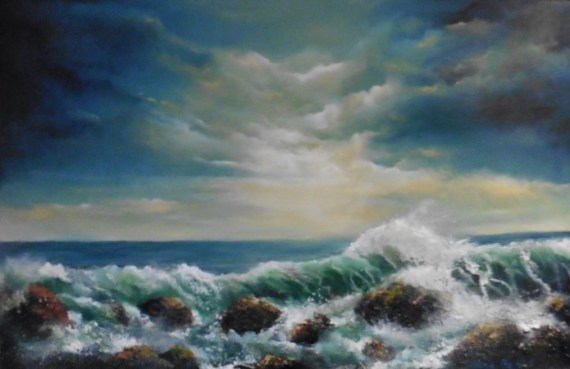 Atlantic Force - Oil on Canvas 20 x 30""