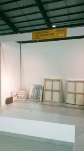 PTSB Ideal Home Show - a blank canvas waiting to be filled wiht paintings by Donna McGee