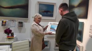 PTSB Ideal Home Show Buying paintngs is a serious business at Ideal Homes Show