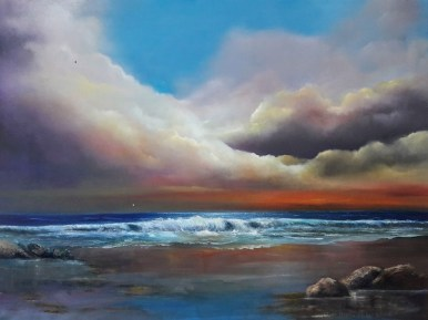 Cheile 30 x 40 inches seascape - oil on canvas