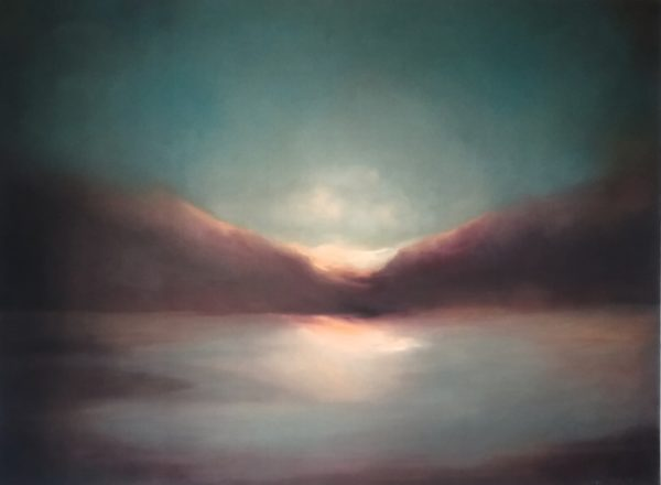 Into the light 30 x 40 inches - oil on block canvas