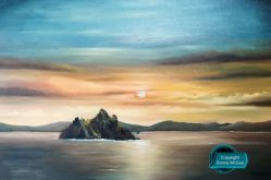 Skellig Michael 60 x 90 cms Oil on Canvas