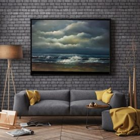 Eternal Calm room view Irish seascape painting