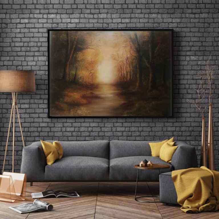 golden moments oil painting of an autumn scene