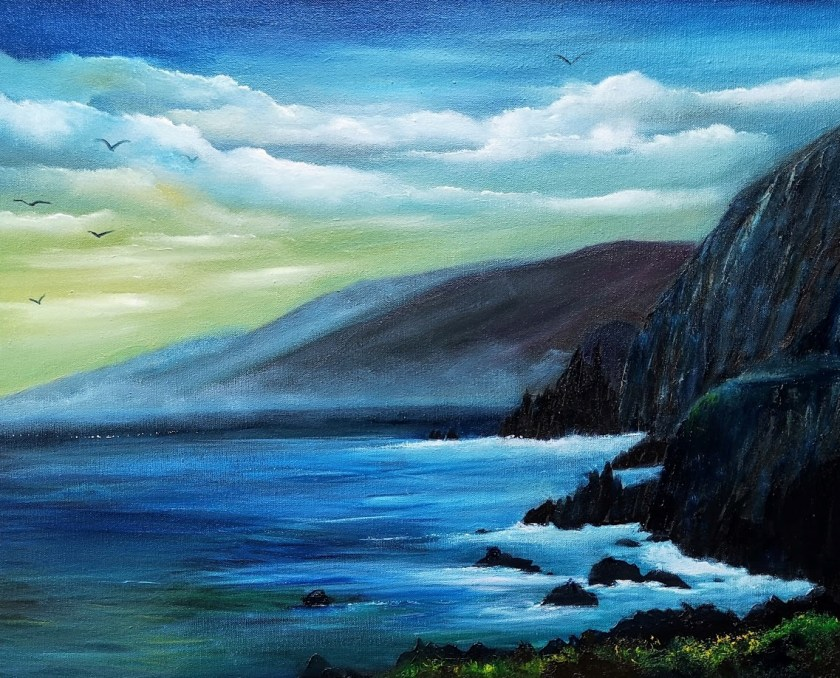 Coumeenole-Beach-Dingle-16x20inches-Oil-on-board