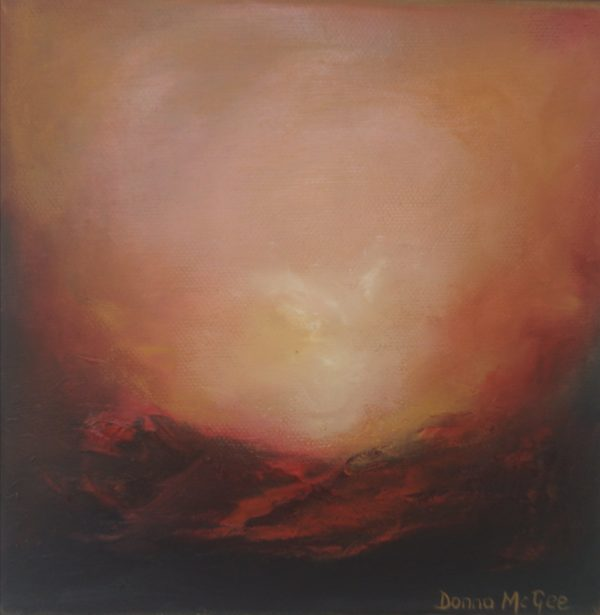 Dawn Kiss abstract oil painting on canvas