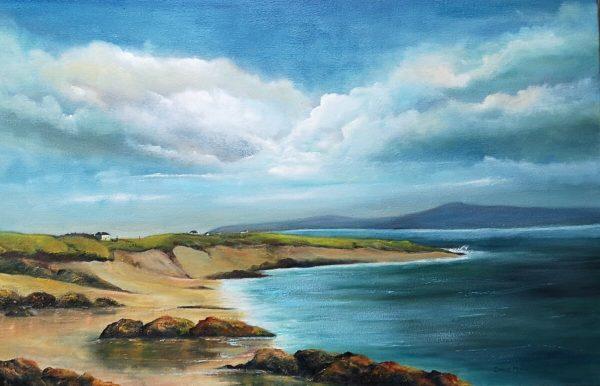 Gurteen bay oil painting