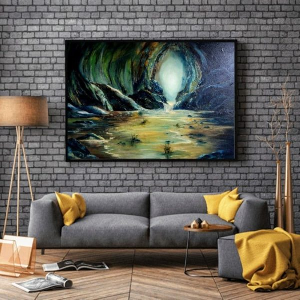 Safe Haven – Oil on Canvas 20 x 30″ oil on canvas in room view