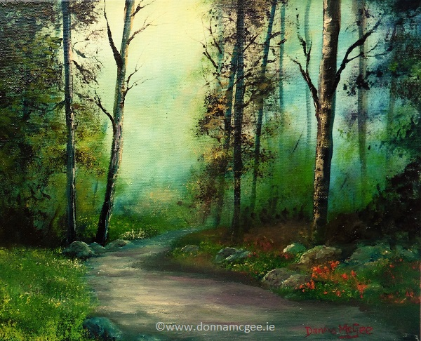The path beyond-10-x-12-inches-Oil-on-Canvas