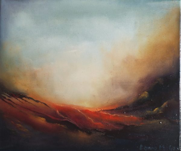 Daybreak - Transcendence1 abstract oil painting