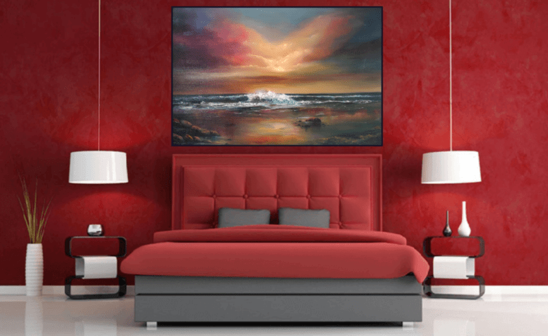 Word-at-Peace-Room-View.png peaceful sunset over the ocean, colourful skies, evening settng