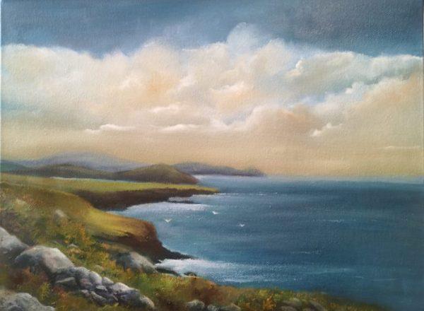 gulls-landing-16x12-oil-on-canvas-1.jpg on Dingle peninsula
