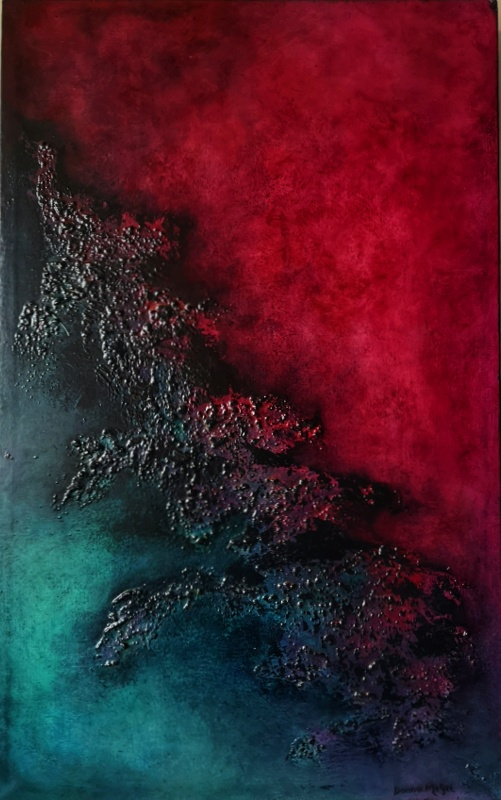 Chimera 1 abstract oil painting in stunning colour and texture