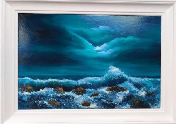 light of the moon irish art oil painting 20 x 30 inches