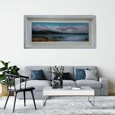 twelve bans connemara 24 x 8 inches oil on canvas