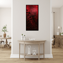 Undying Love 1 -This painting belongs to a series of 3D oil paintings set on block canvas, in varying sizes abstracted with flowers & representing undying love