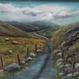 country roads oil painting