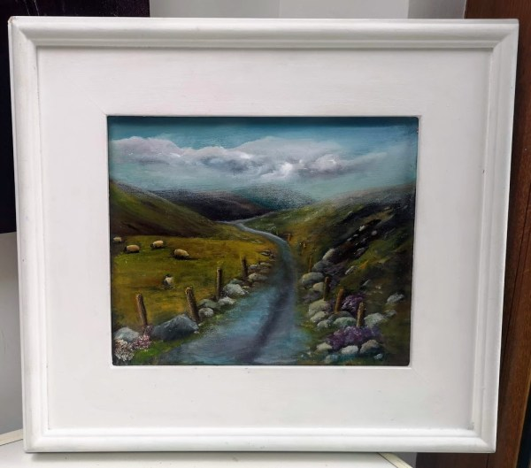 Country Roads Oil painting 10 x 12 inches a scene from Connemara, West of Ireland
