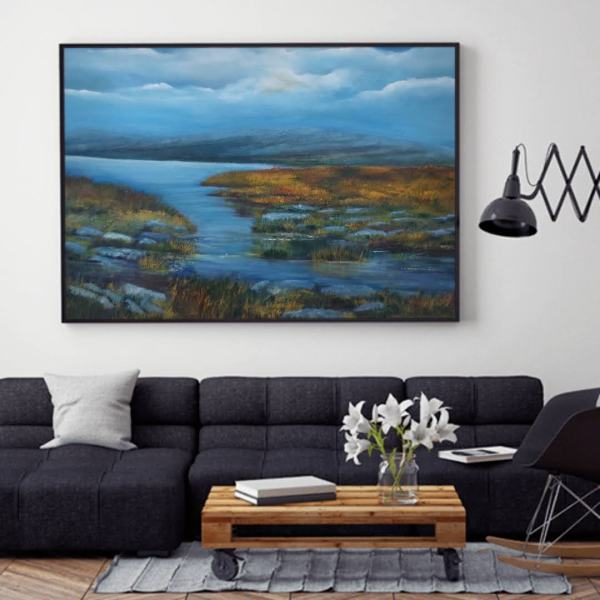 Burren Heart and Soul Oil painting in a room setting