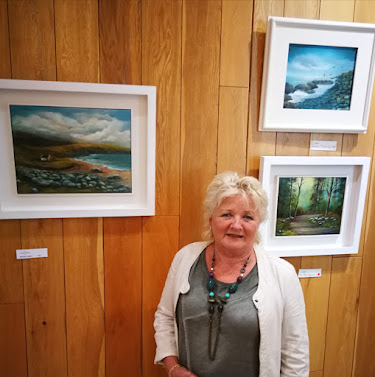 Donna McGee at Shards of Light Solo Art Exhibition, Dublin