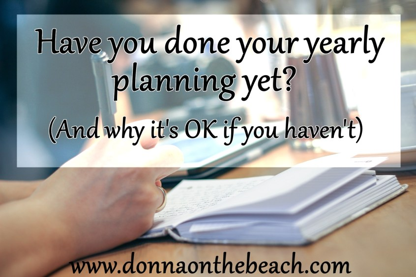 Yearly planning