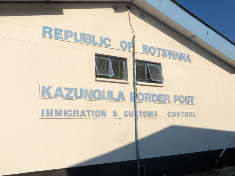 Botswana's immigration office at the border by Chobe National Park