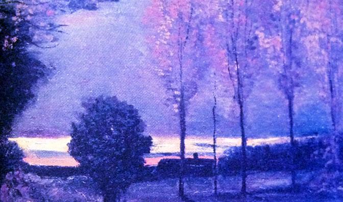 Arte 672 BLU Van Gogh Autunno paesaggio al crepuscolo 1885 IMG_0085  DonneCultura