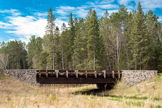 First Highway Bride over Mississippi River in Itasca State Park in Minnesota