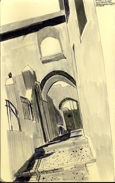 santorinian walkway