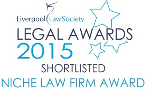 Image showing that Donoghue Solicitors has been short-listed for the Niche Law Firm Award in the 2015 Liverpool Law Society Legal Awards.