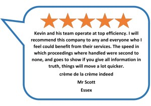 Actions against the police solicitors Donoghue Solicitors received a 5 star review from a client.